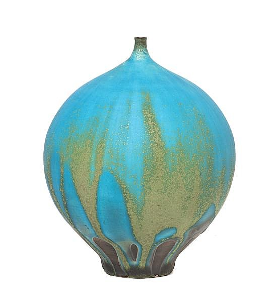 * A Rose Cabat Pottery Feelie, Height 4 3/4 inches.