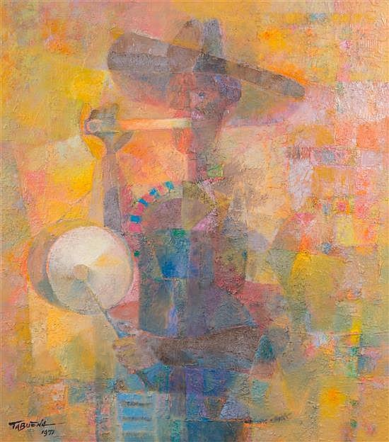 * Romeo Tabuena, (Filipino, b. 1921), Flute and Drum, 1971