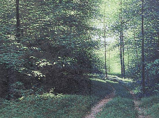 Robert Alan Gough, (American, b. 1931), Light in Forest, 1979