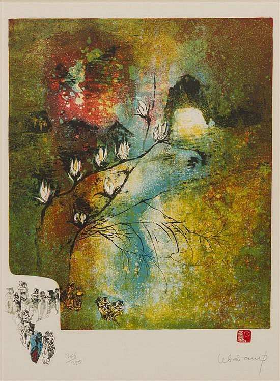* Le Ba Dang, (Vietnamese, b. 1922), Flowering Braches