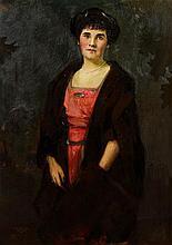 Louis Betts, (American, 1873-1961), Portrait of a Woman, 1915