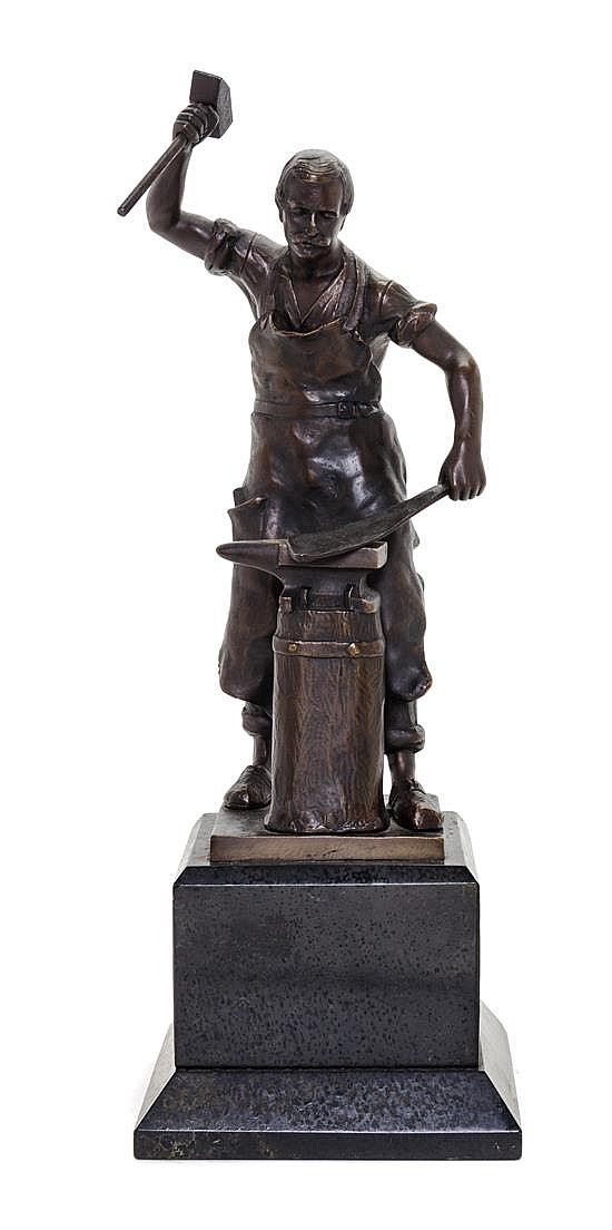 A Continental Bronze Figure Height 16 inches.