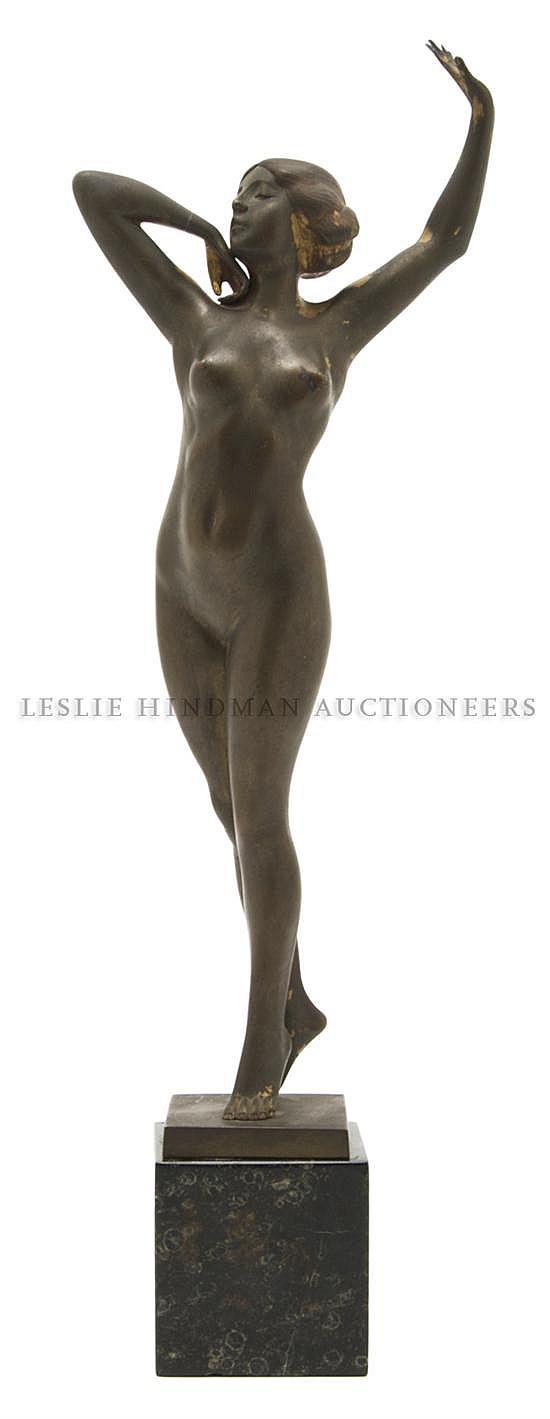 Franz Peleschka (Austrian b. 1873), Height of bronze 13 1/2; height overall 16 1/4 inches.