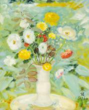 Le Pho (Vietnamese, 1907-2001) Les Poppies