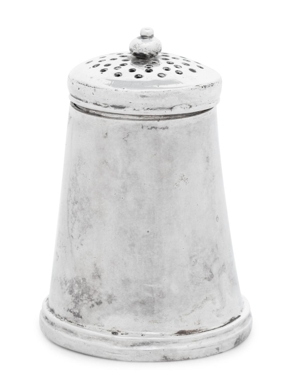 An American Silver Pepper Box