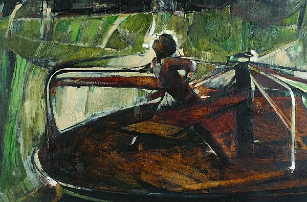 Carol Wald, (American, 1935-2000), Girl on a Whirligig, 1962