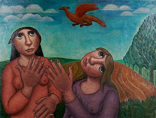 Lucienne Verag, (Belgian, b. 1914), Griffin's Flight