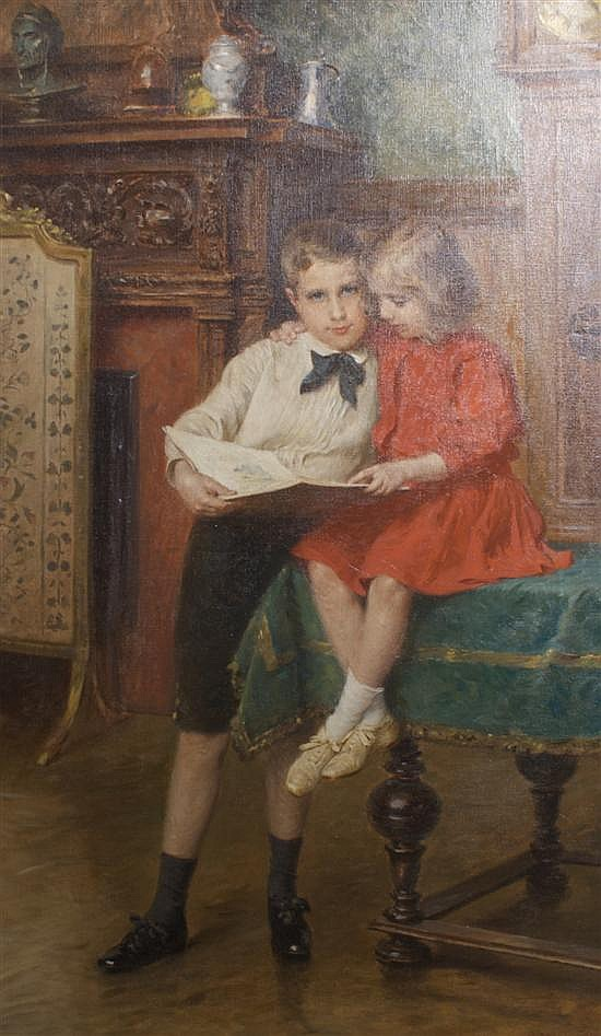 Carl Froschl, (Austrian, 1848-1934), The Siblings