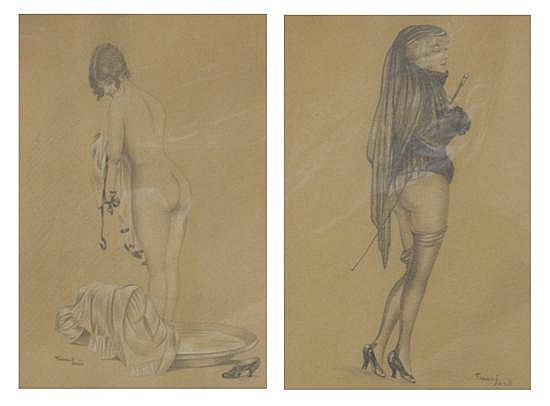 Geza Farago, (Hungarian, 1877-1928), A Pair of Works