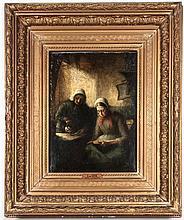 Cesar de Cock, (Flemish, 1823-1904), Two Women