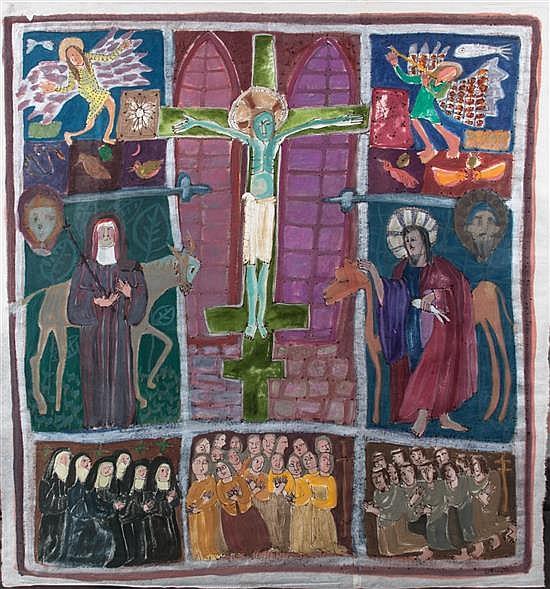 Attributed to Dorothy Preston, (American, 1917-1993), Crucifixion