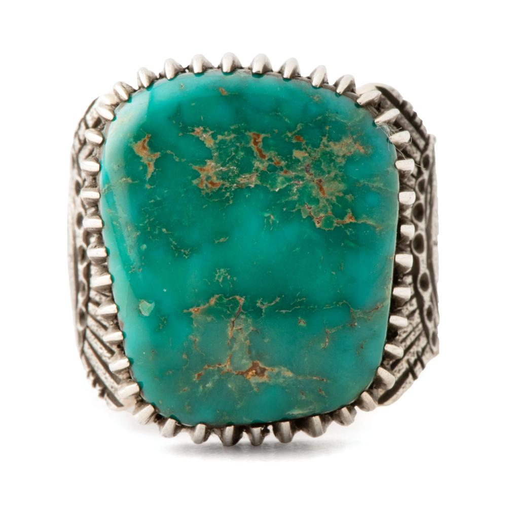 Tony Abeyta (Dine, b. 1965) Silver and Turquoise Ring