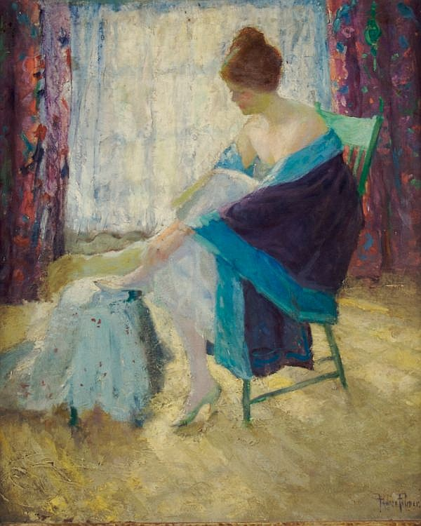 Pauline Palmer, (American, 1867-1938), The Dressing Room