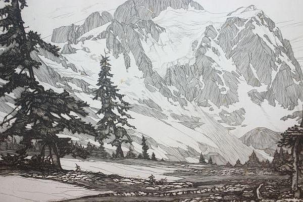 Roi Partridge, (American, 1888-1984), Alpine Landscape