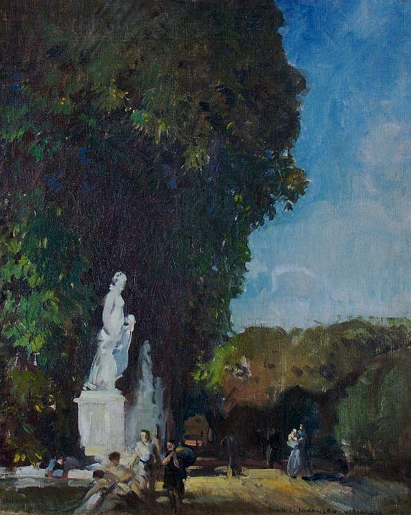 John Christen Johansen, (Danish, 1876-1964), Versailles, 1919