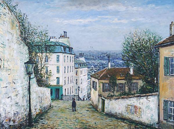 Alois Lecoque, (Czechoslovakian, 1891-1981), Maison de mimi Pison, Montmarte