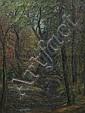*Elizabeth Gowdy Baker, (American, 1860-1927), Forest Landscape with Bridge, Stream, and Swan, Elizabeth E Baker, Click for value
