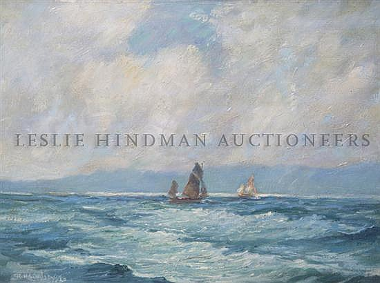 *R.H. Lindsay, (American, 20th Century), Ships at Sea