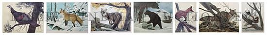 *John Aldrich Ruthven, (American, b. 1924), A group of seven works
