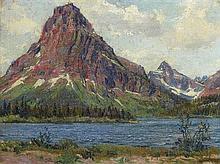 Wilbur G. Adam, (American, 1889-1973), Moutain Landscape, 1927 - possibly Estes Park, Colorado