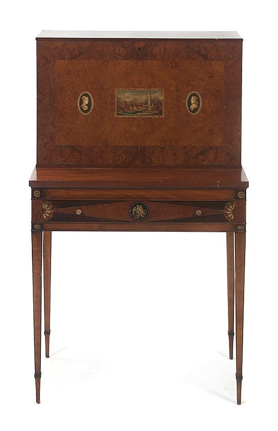 A Victorian Adam Style Fall Front Secretary, Height 45 inches.