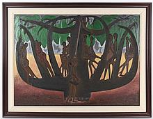 * Alfred Thoba, (South African, 1958-2004), Tree of Life