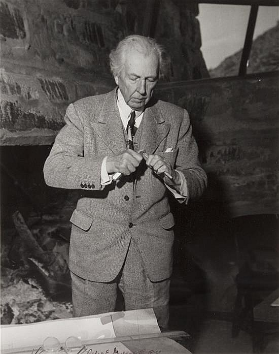 Pedro E. Guerrero, (American, 1917-2012), Frank Lloyd Wright, 1985