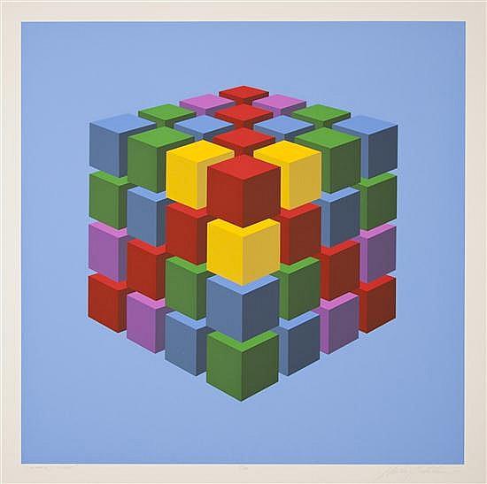 Marko Spalatin, (American, b. 1945), Cube, 1970 (portfolio of twelve)
