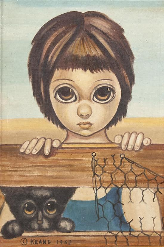 Margaret Keane, (American, b.1927), The Two Look Outs, 1962