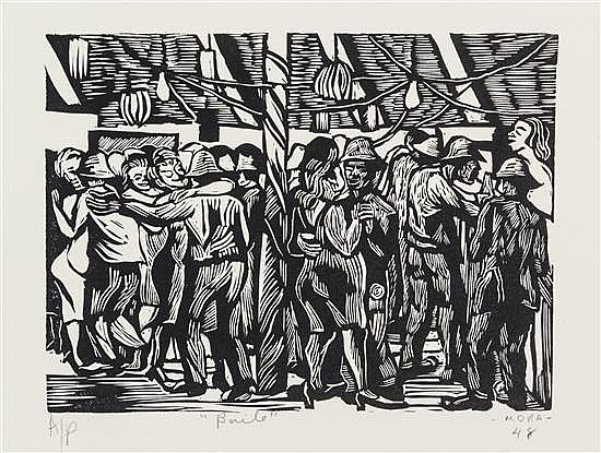 Francisco Luis Mora, (Mexican, b. 1922), Los mineros, 1947-1948 (A group of 14 works)