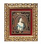 * A Continental Portrait Miniature, Height overall 8 x width 7 1/8 inches.