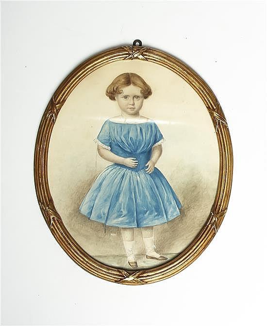 * Larkins, (English, 19th century), Portrait of Emily Susan Jermyn, descendant of Sir Henry Jermyn