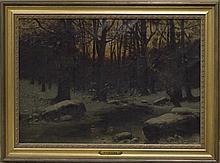 Alexandre Gaston Guignard, (French, 1848-1922), Winter Evening