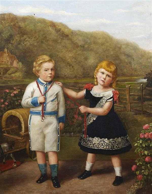 Thomas Armstrong, (British, 1835-1911), Two Children