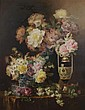 Paul de Longpre, (French, 1855-1911), Still Life with Roses, Paul DeLongpré, Click for value