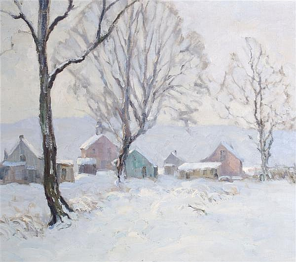 Claude Curry Bohm, (American, 1894-1971), Winter Scene
