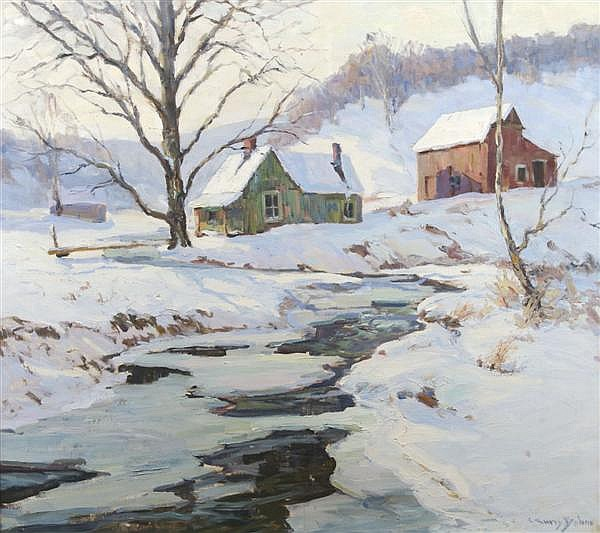 Claude Curry Bohm, (American, 1894-1971), Winter in Brown County