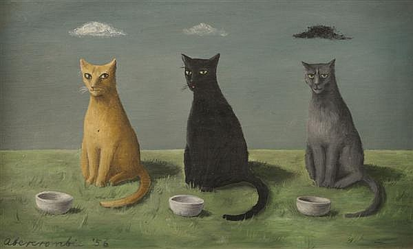 Gertrude Abercrombie, (American, 1909-1977), Three Cats
