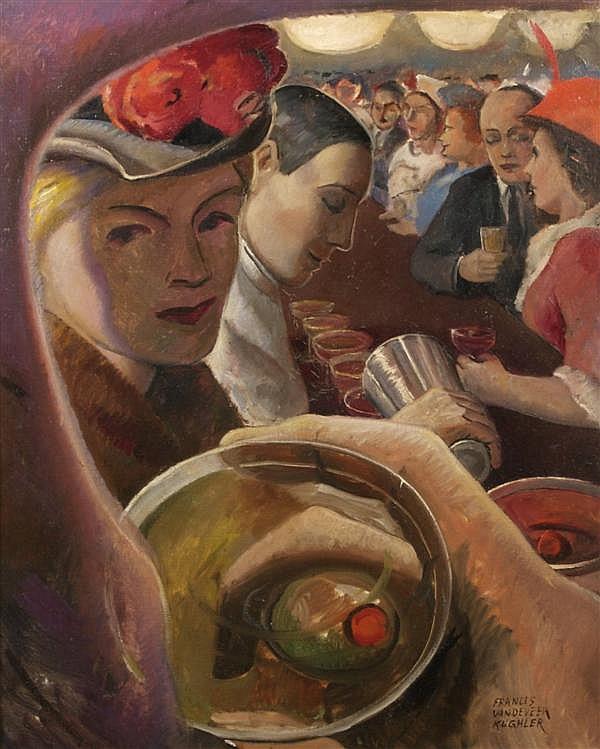 Francis Vandeveer Kughler, (American, 1901-1970), The Dry Martini