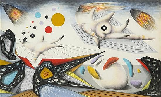 Esteban Frances, (Spanish, 1913/14-1976), Surrealist Composition