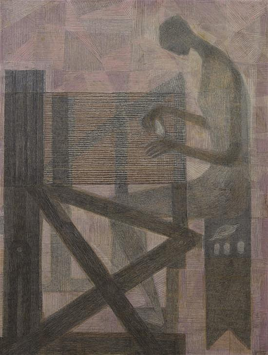 Margo Hoff, (American, 1912-2008), The Loom