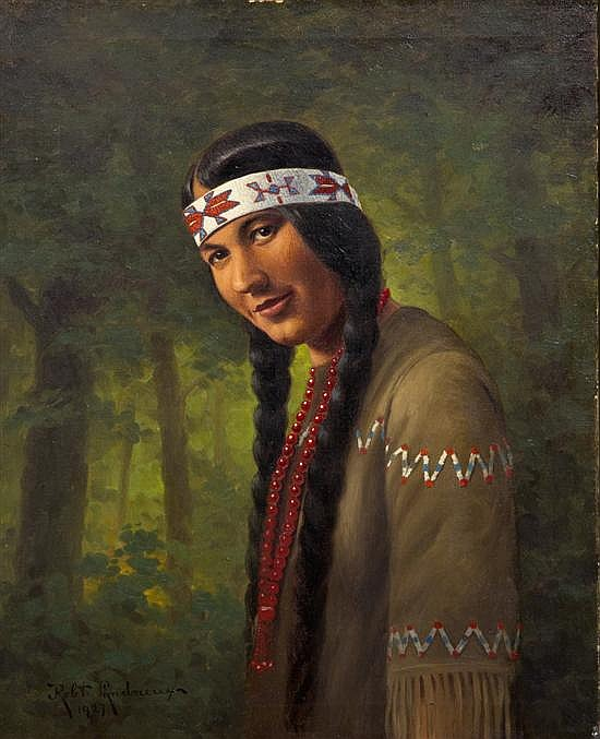 Robert Ottokar Lindneux, (American, 1871-1970), Before the Tribe