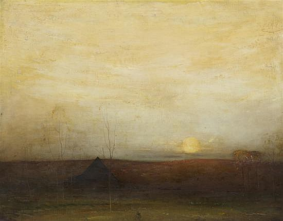 Felix Russman, (American, 1888-1962), Moonlit Landscape