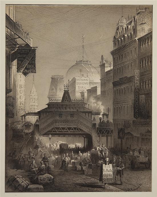 *Rudolf Cronau, (American, 1855-1939), Park Place, 1881