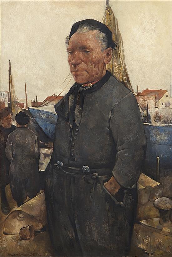 Willem van den Berg, (Dutch, 1886-1970), Fisherman of Urk