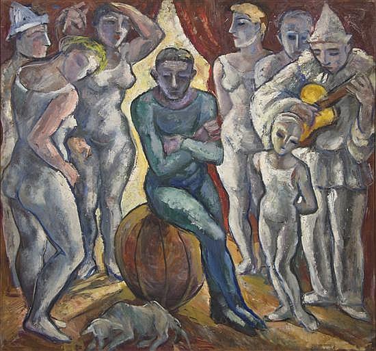 Emanuel Glicenstein Romano, (American, 1897-1984), Circus, 1935