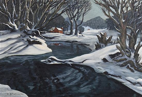 Ray Anthony Grathwol, (American, 1900-1992), Winterscape