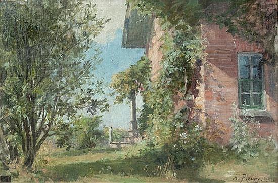 Albert Francois Fleury, (French, 1848-1925), Corner Garden