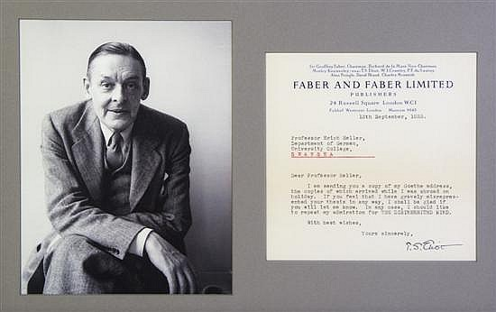 analysis faber and faber and eliot Analysis of ts eliot's the waste land, schemi riassuntivi di lingua inglese the firm became faber and faber in 1929, and eliot was appointed a director.
