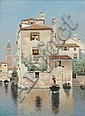 Henry Pember Smith, (American, 1854-1907), Venetian Scene, Arthur Pember Smith, Click for value